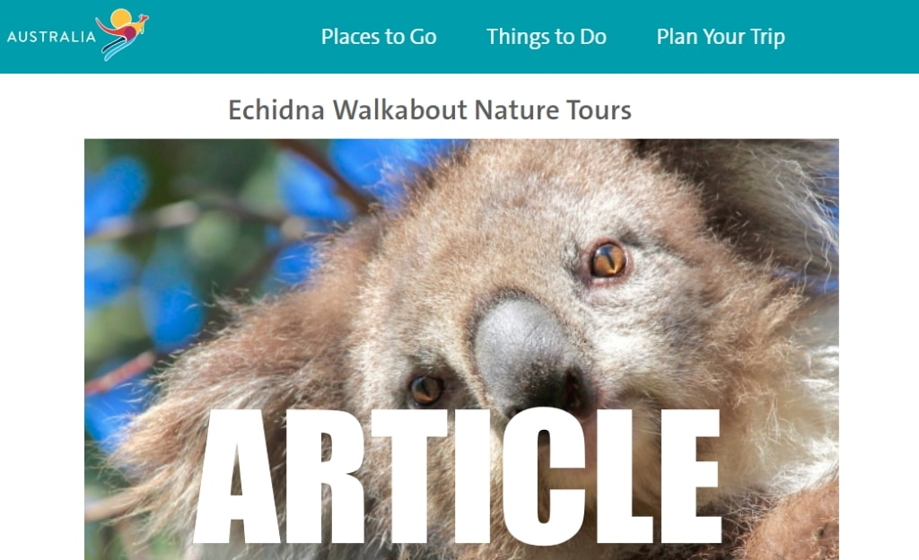 Official Australian government article about Echidna Walkabout