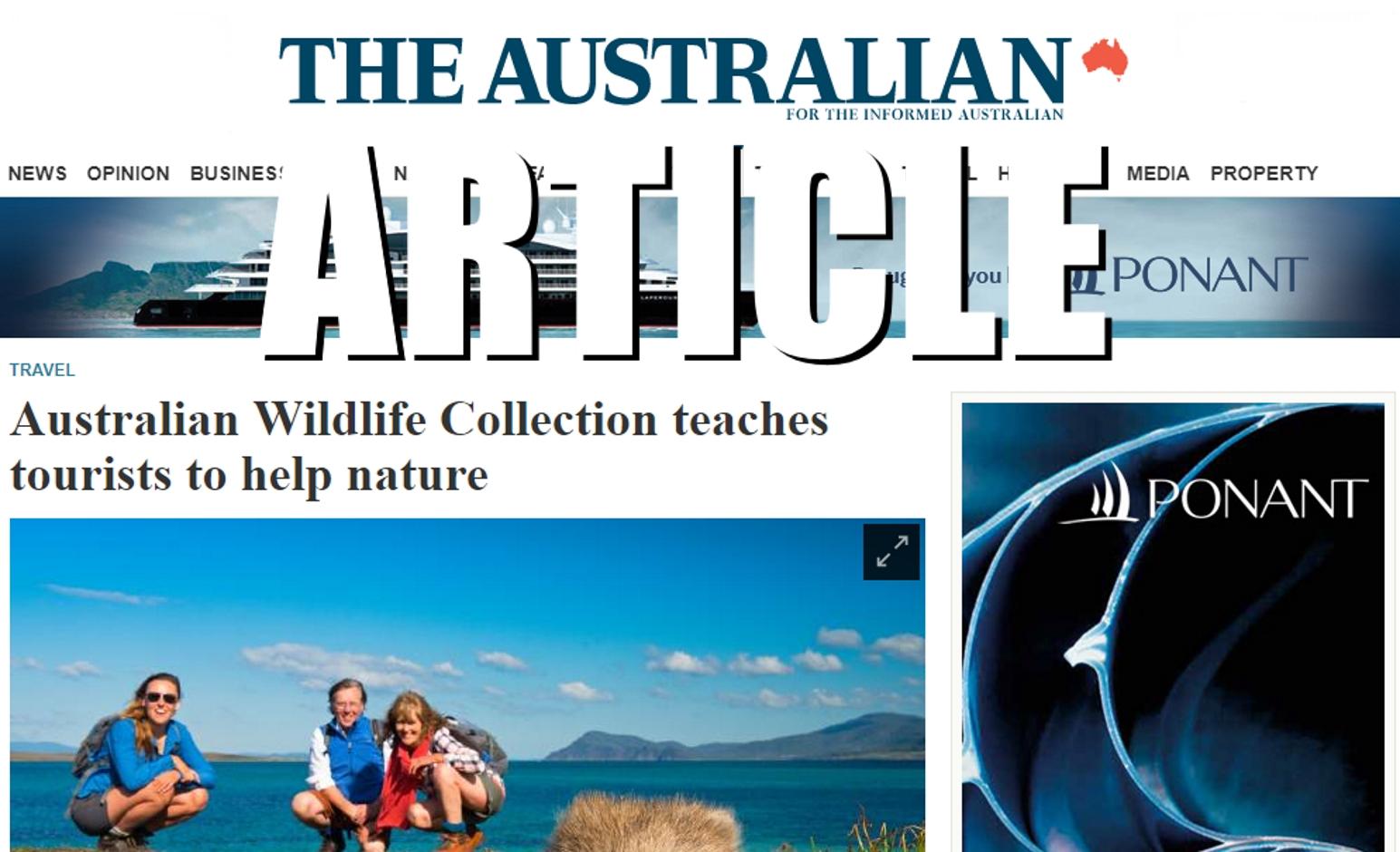 Echidna Walkabout in The Australian newspaper