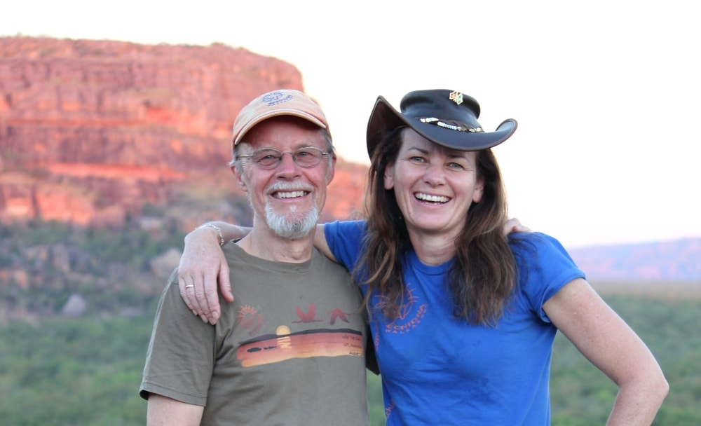 Founders Roger and Janine believe in travel to help nature