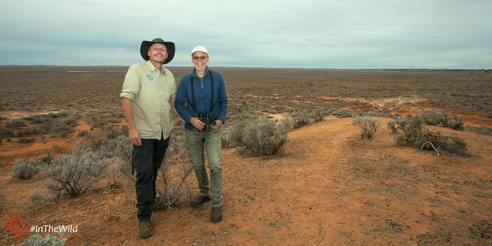 photographers and wildlife guides Roger Smith & Michael Williams at Mungo