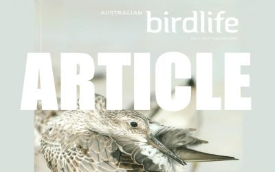 Janine's Article in BirdLife Australia Magazine