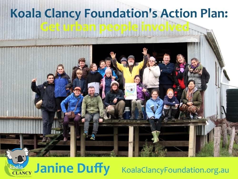 koala tree planting volunteers