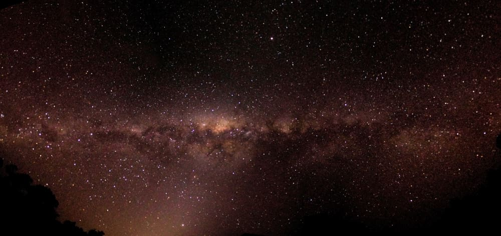 stars Milky Way seen on 21 day wildlife safari Australia