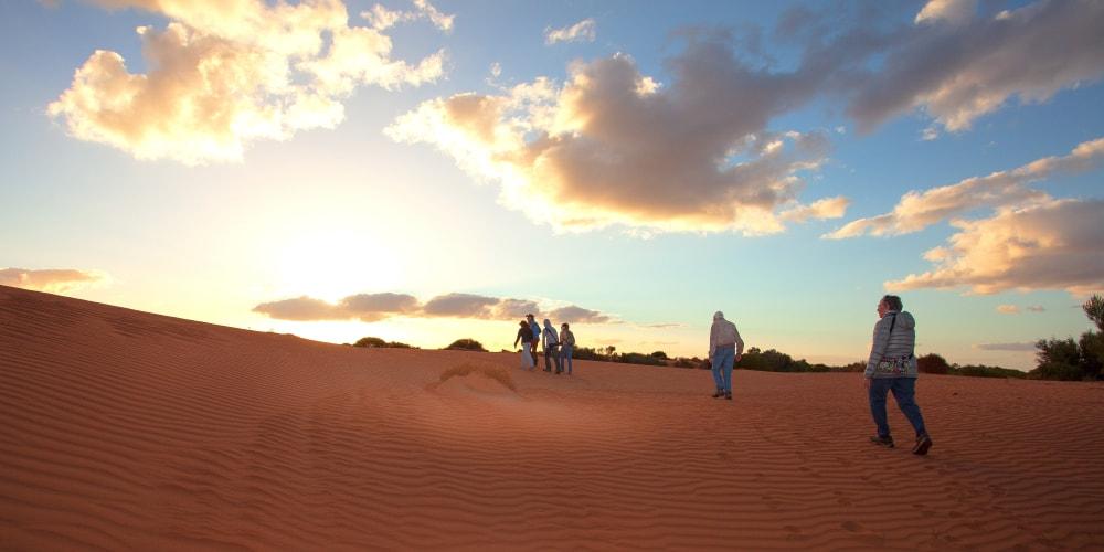 see red sand dunes Australia