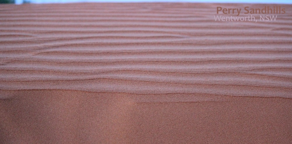 close-up red sand dunes Wentworth, Australia