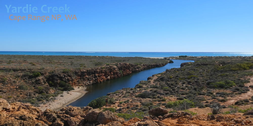 Yardie Creek landscape ningaloo beach